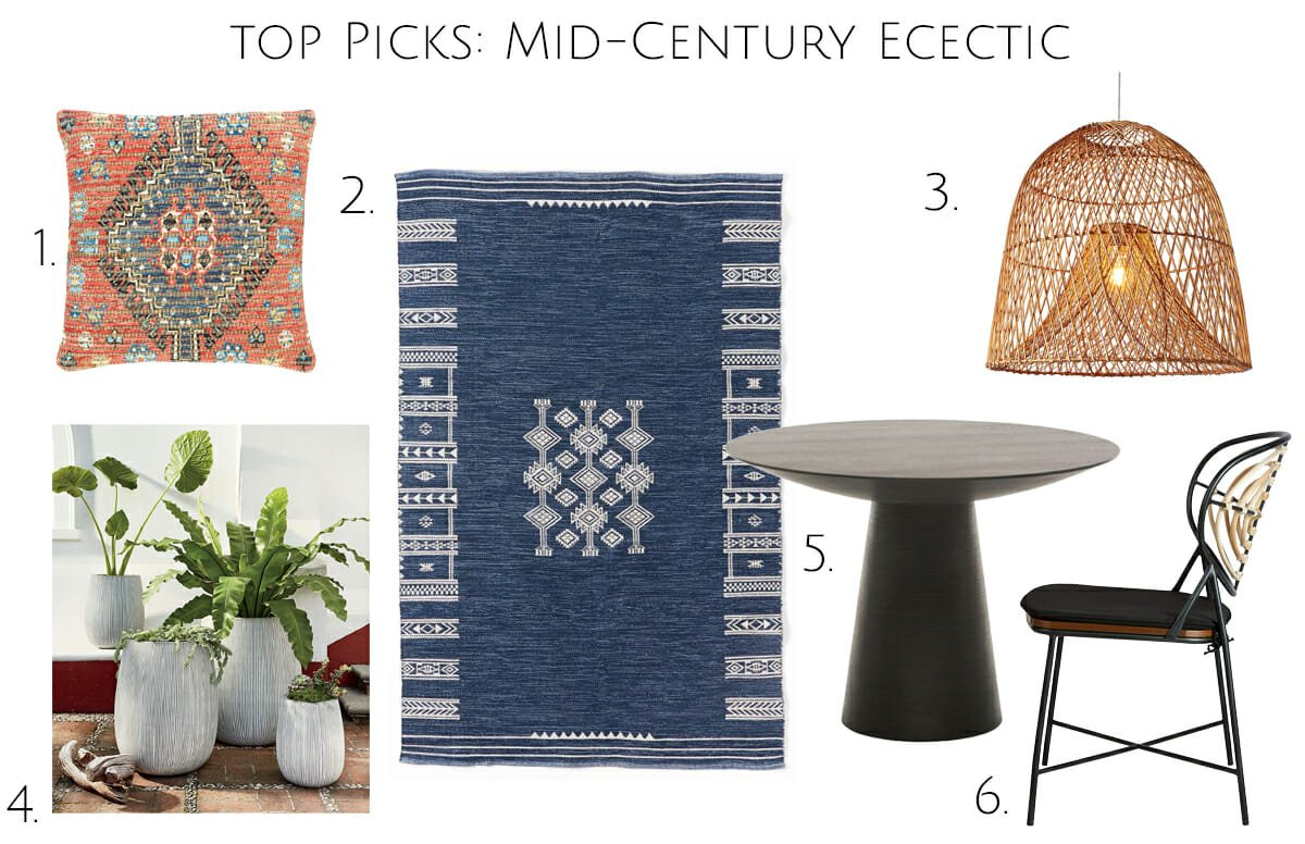 Mid century eclectic living room top picks