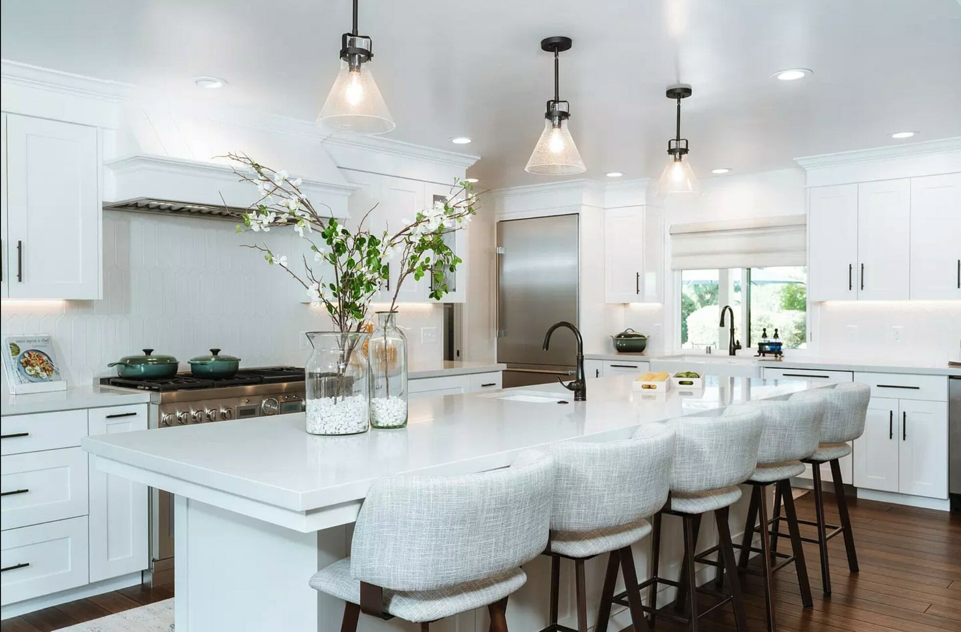 Modern farmhouse kitchen by local interior designers fresno ca