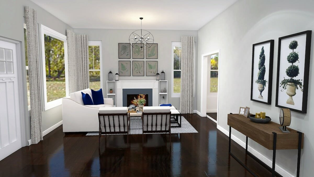 Modern farmhouse living room by houzz interior designer san antonio tx