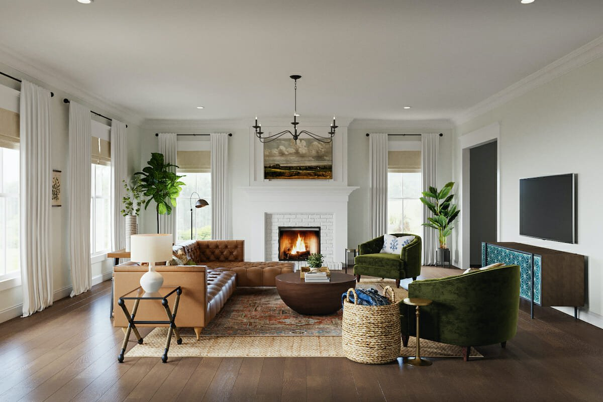 Modern farmhouse with an eclectic twist