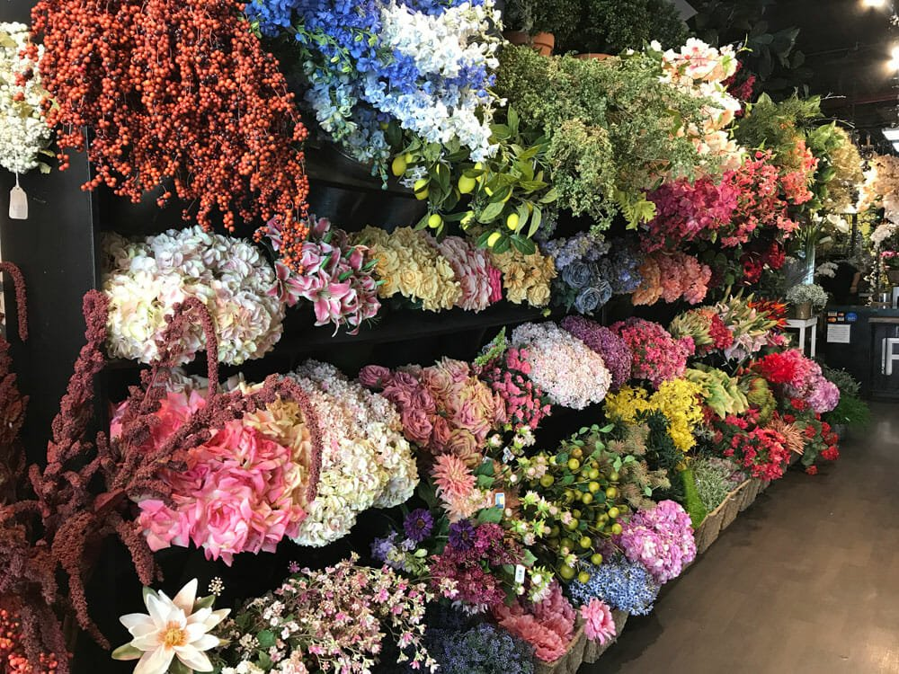 NYC flower market display