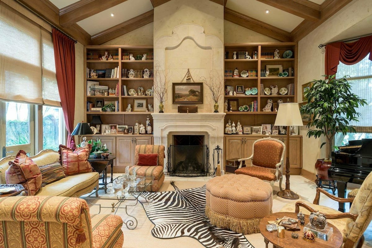 Traditional living room by one of the top San Antonio interior designers Derrick Dodge