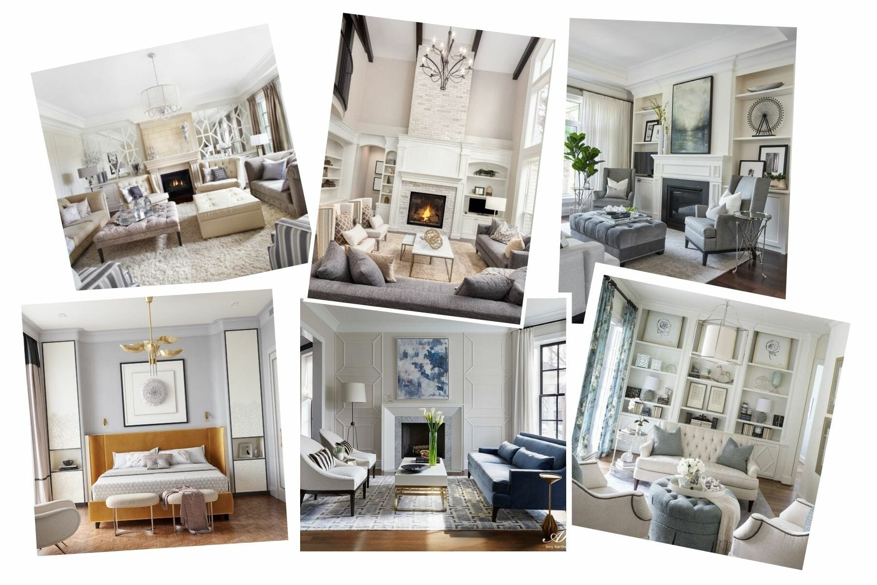 Transitional style home mood board