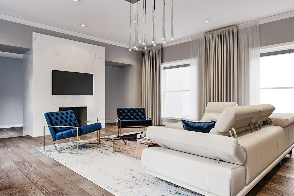 contemporary home interior end result living room