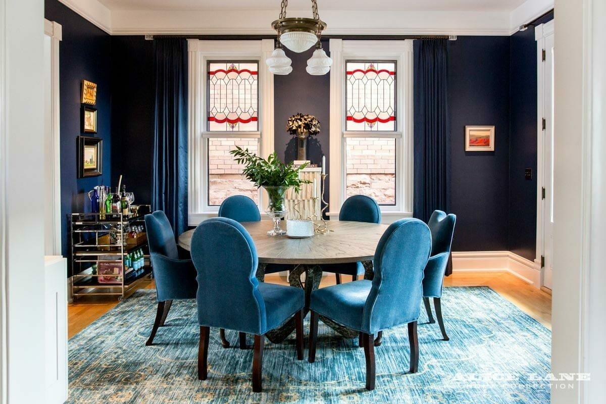 dramatic dining room interior design salt lake city