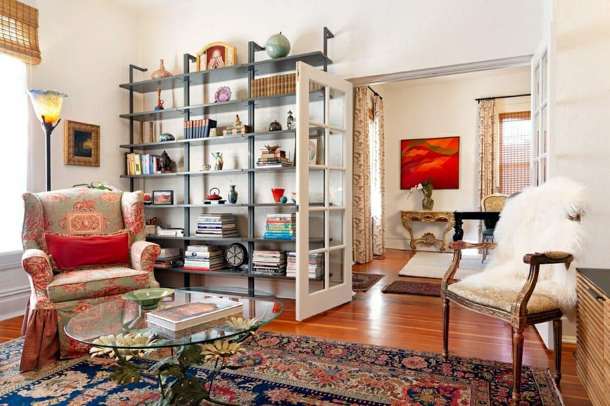 eclectic living room by interior designer salt lake city utah Julie Assenberg