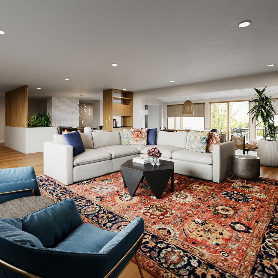 eclectic-style-living-room-for-an-open-concept-layout