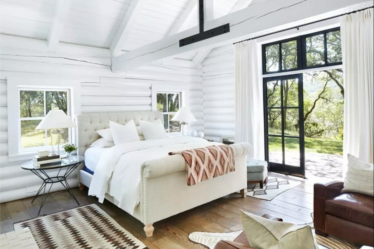 interior design instagram accounts - the spruce cozy cabin bedroom (1)