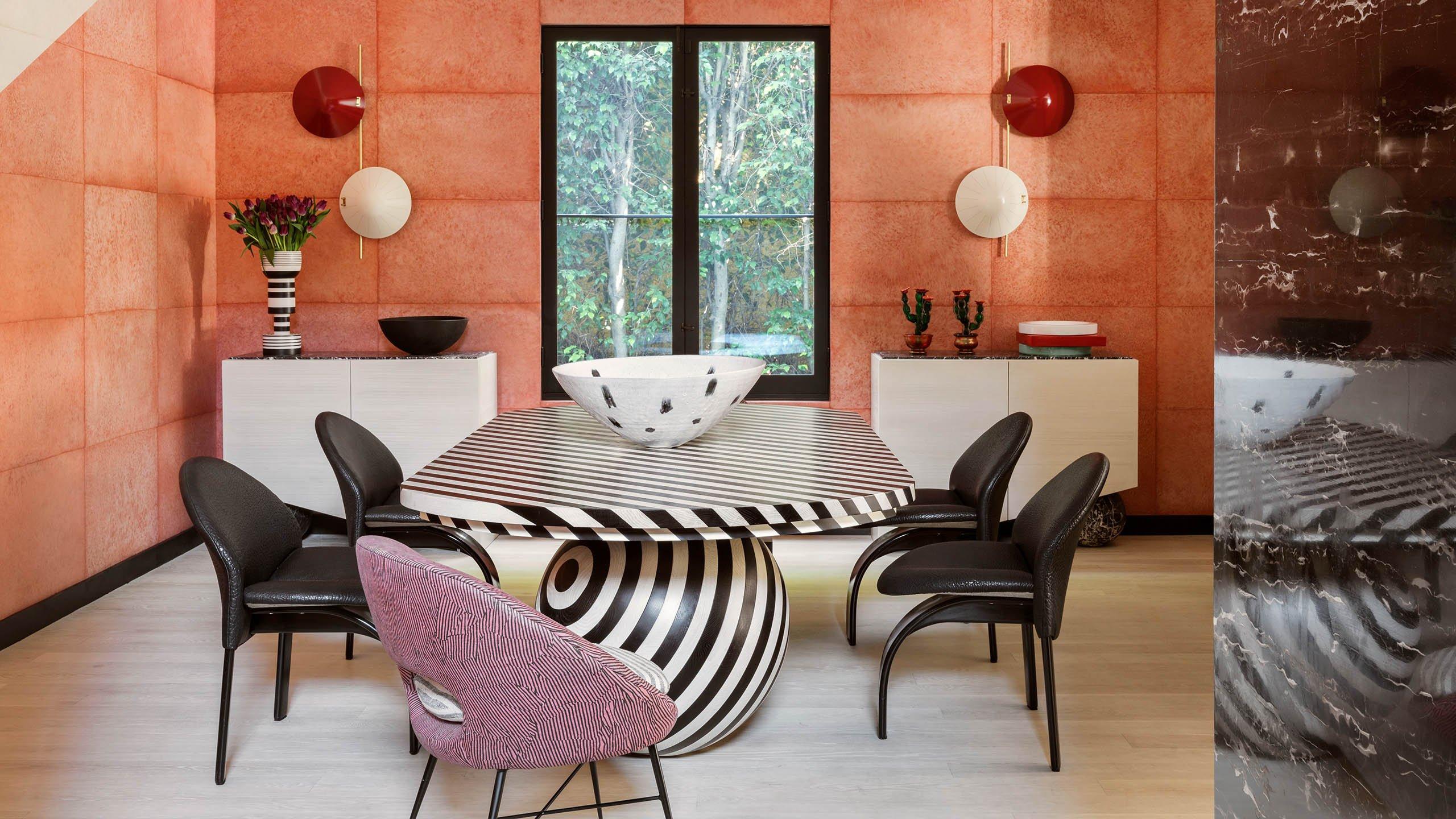 kelly wearstler instagram funky dining room