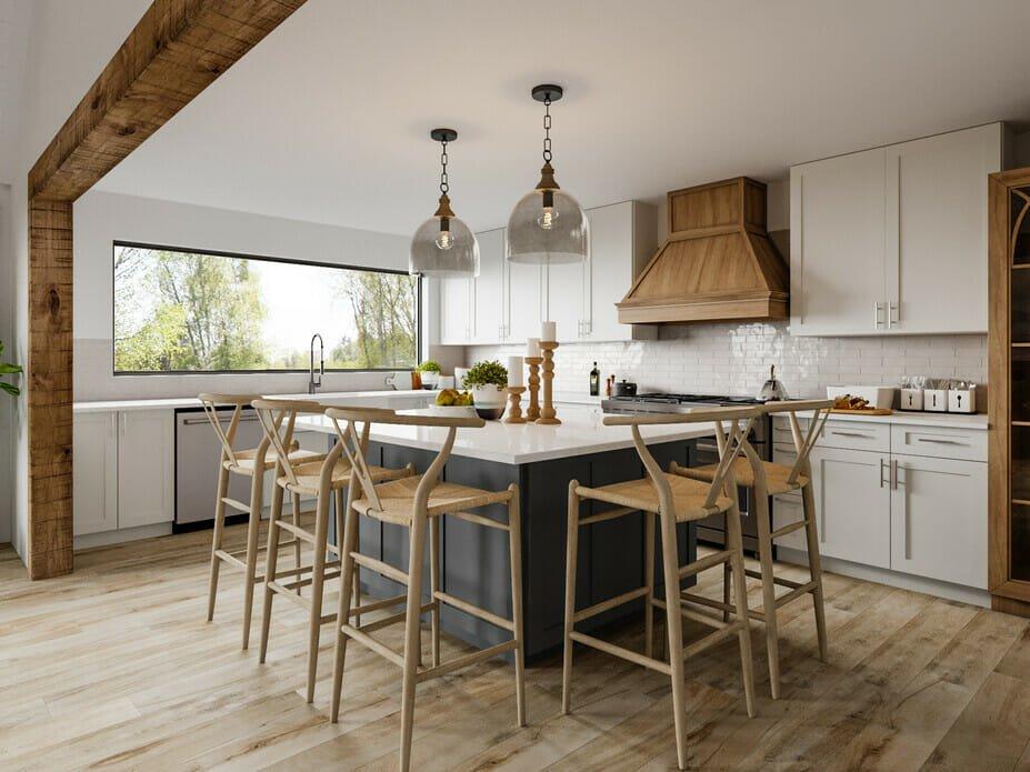 modern farmhouse kitchen decor with natural elements