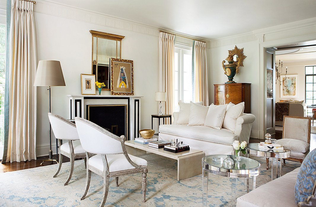 southern charm living room by top raleigh interior designers