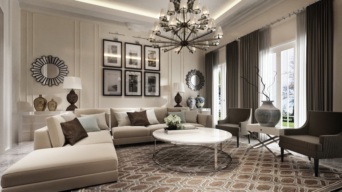 Ambient lighting interior design by decorilla designer Aida A.
