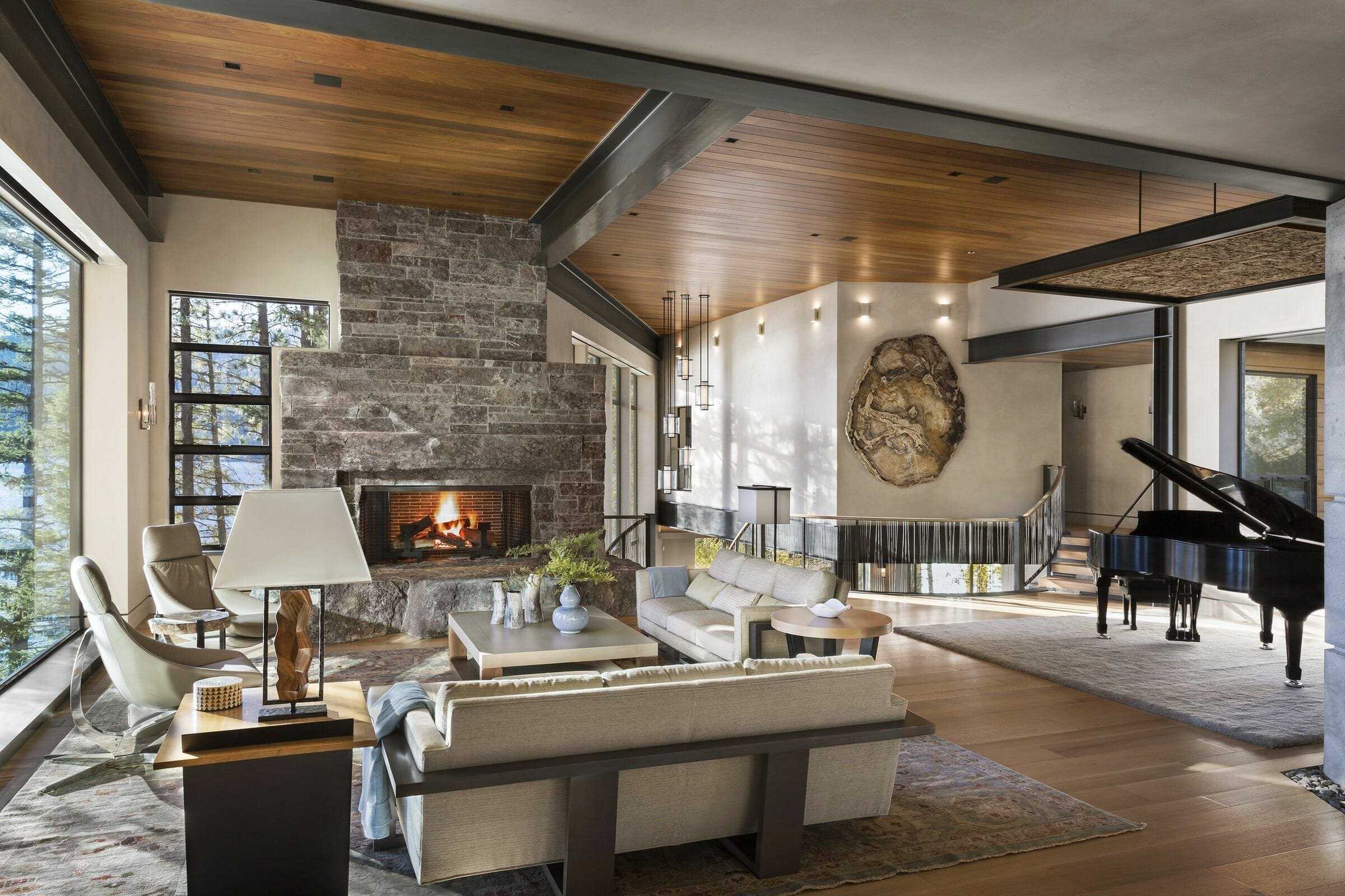 Beautiful rustic interior design for living room