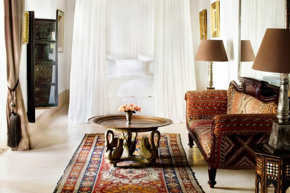 Colorful hotel by one of the famous hotel interior designers - L'hotel Marrakesh