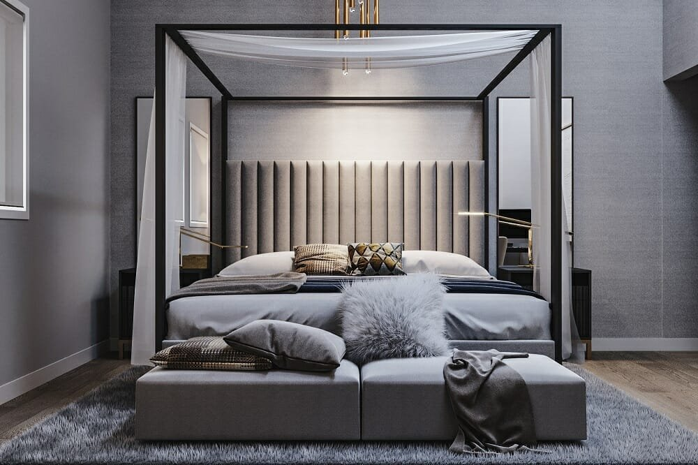 Contemporary chic hotel room by one of the top hotel interior designers - Mladen