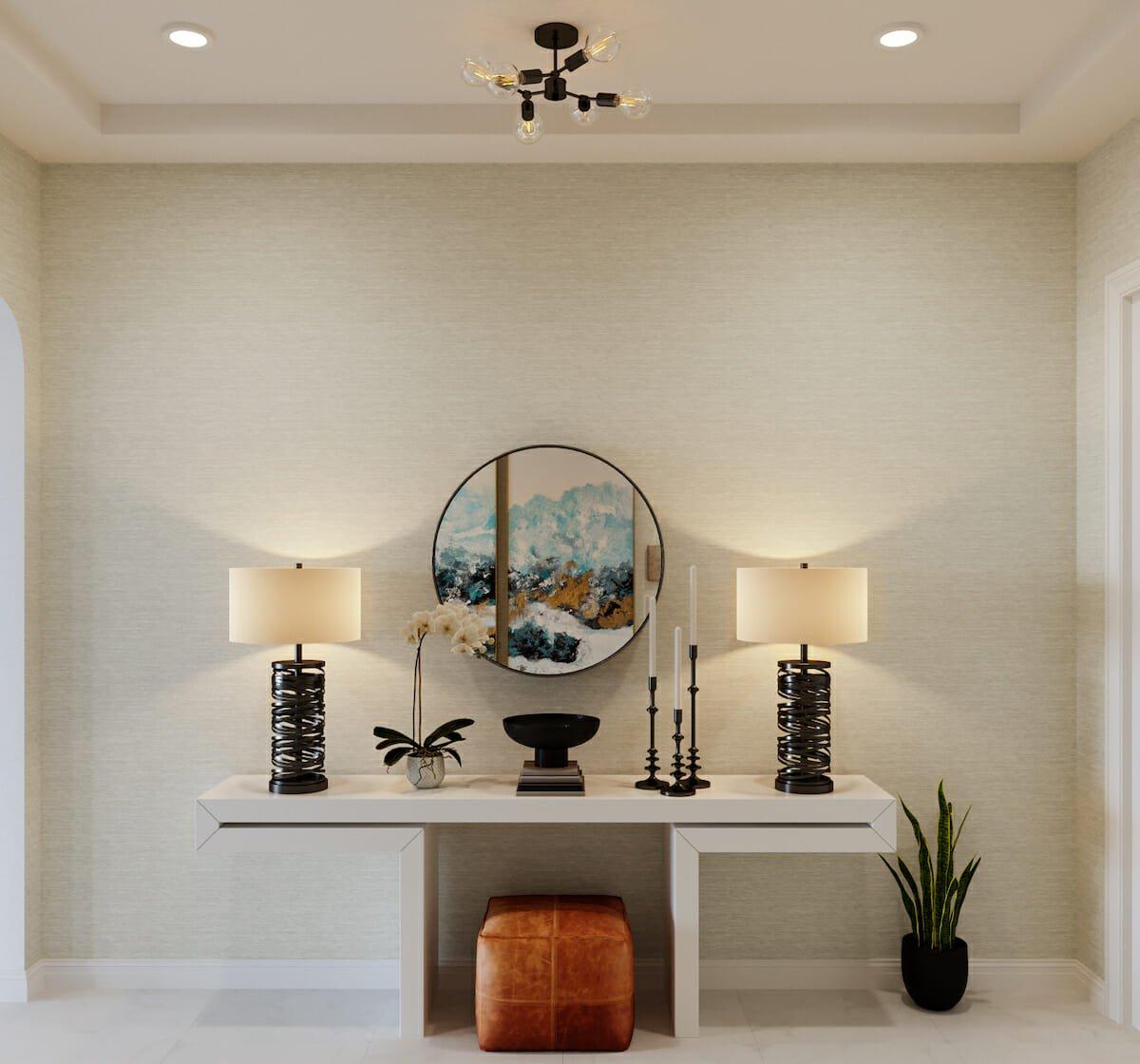 Contemporary entryway by Decorilla online interior designer Casey Hardin