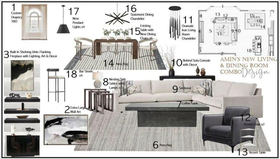 Contemporary home decor by Decorilla designer Berkeley H