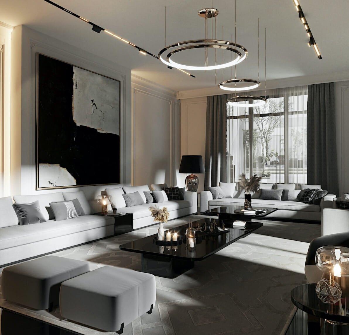 Contemporary house interior lighting design