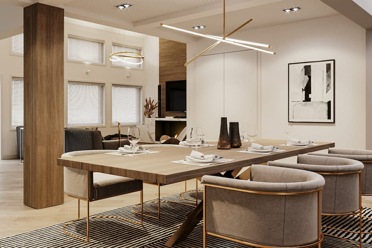 Dining room lighting interior design by Decorilla designer Mladen C.