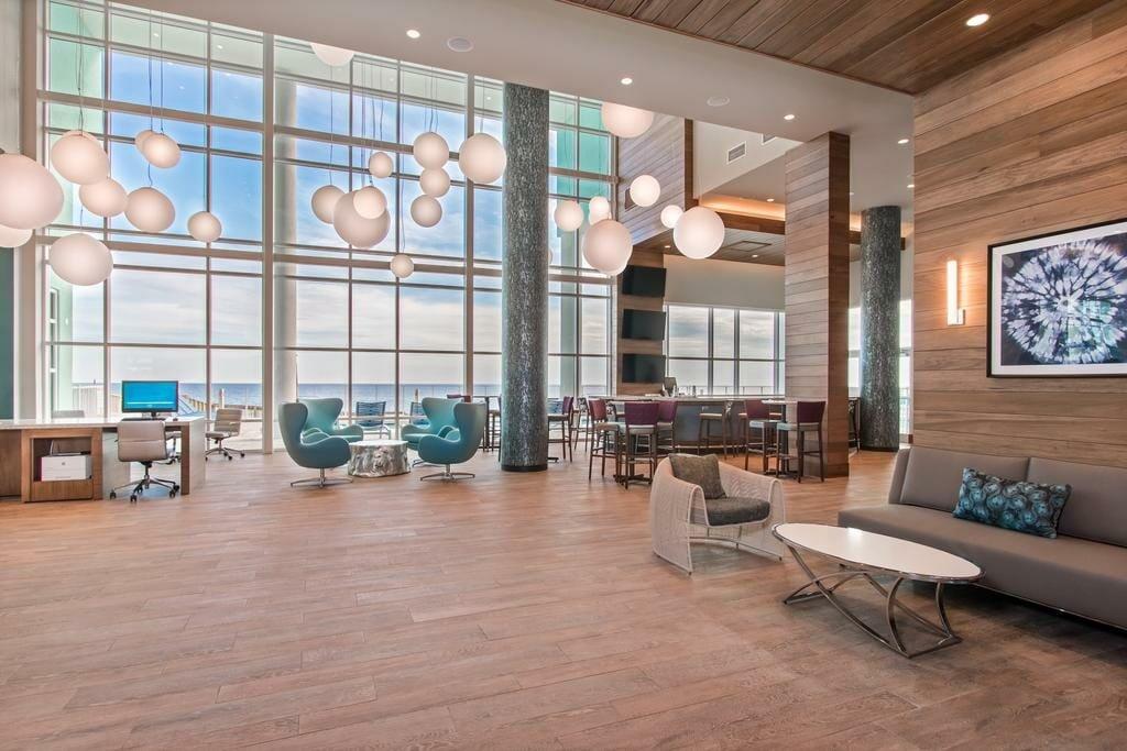 Hotel lobby design by hotel decorator - Morgan W