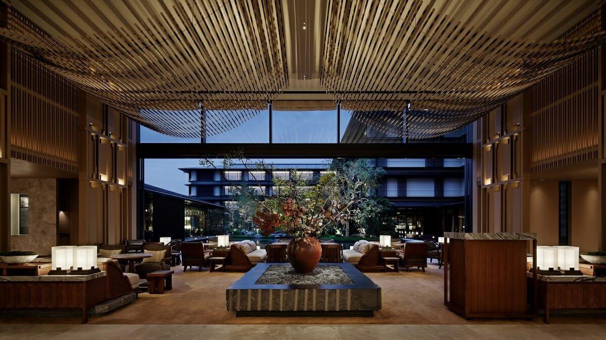 Hotel lobby interior design - Kyoto