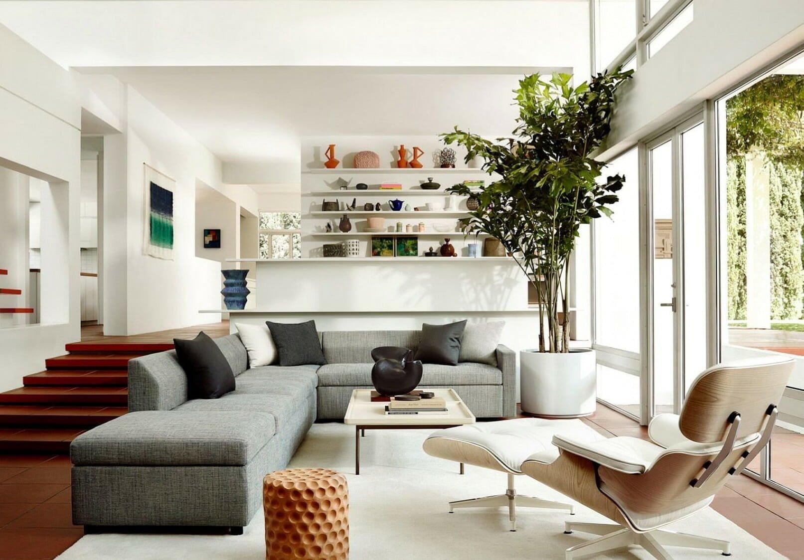 Inviting natural sunlight in modern lighting interior design