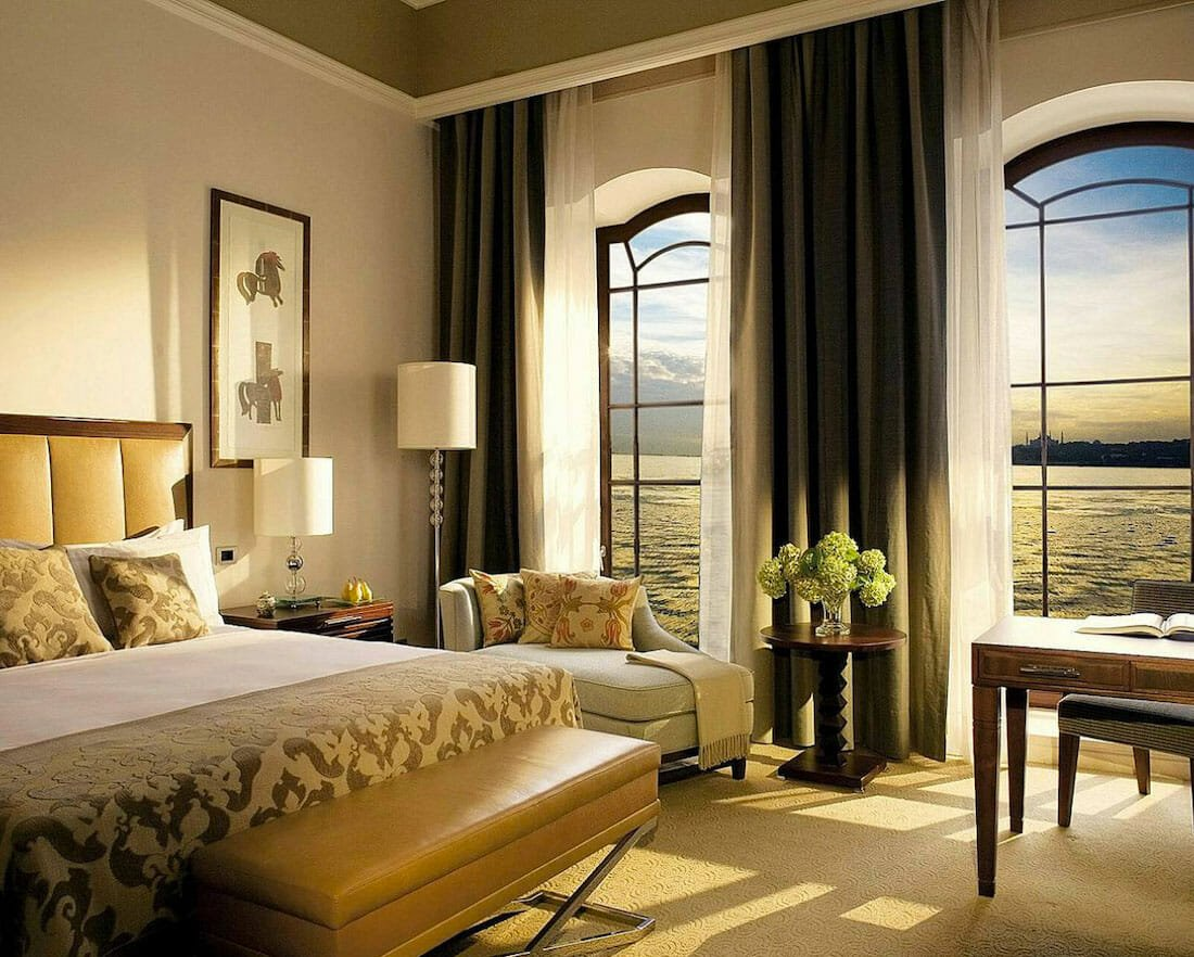 Luxury hotel interior design on the water