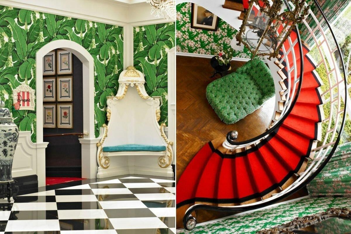 Maximalist boutique hotel interior design - The Greenbier