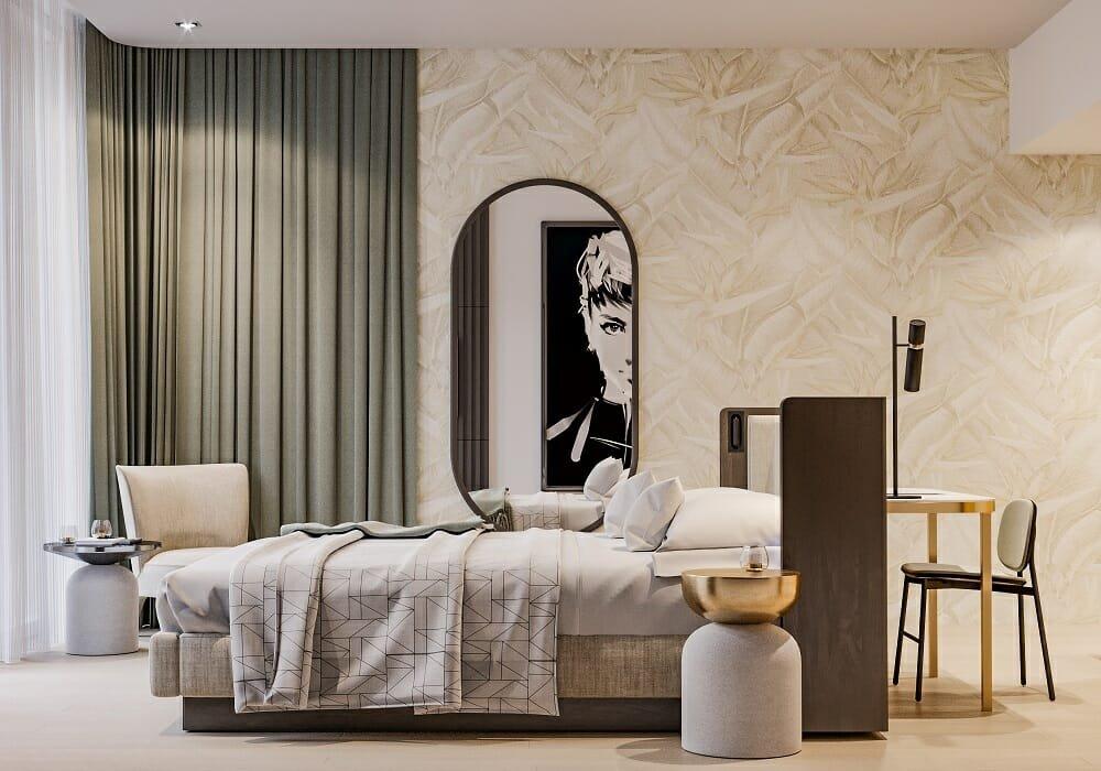 Mid-century bedroom - boutique hotel interior design by Mladen