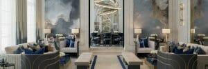 Modern luxurious living room interior lighting design