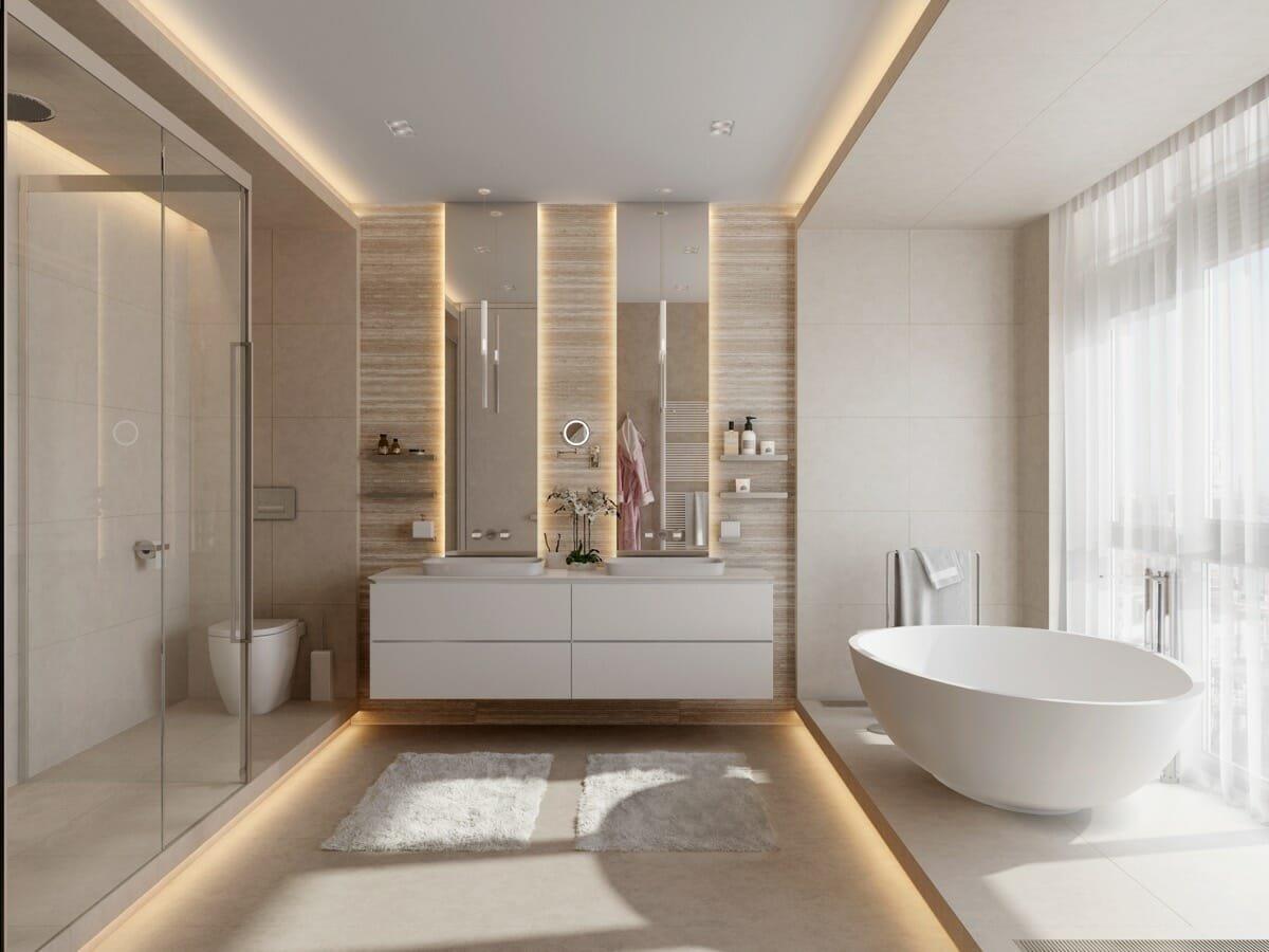 Night lights in bathroom lighting interior design