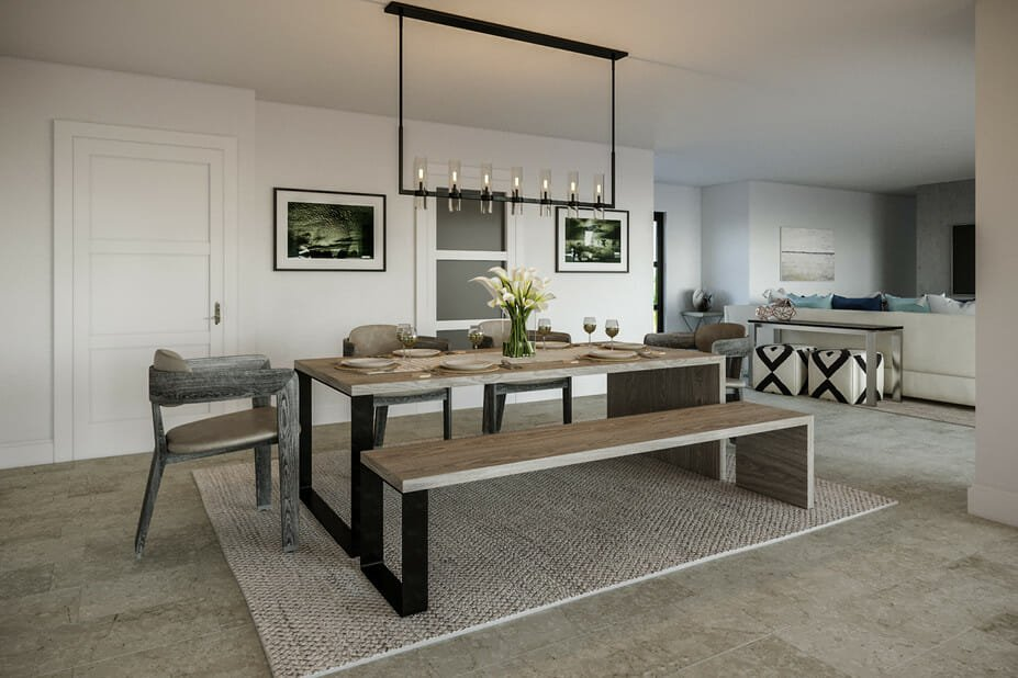 Rustic contemporary house dining room