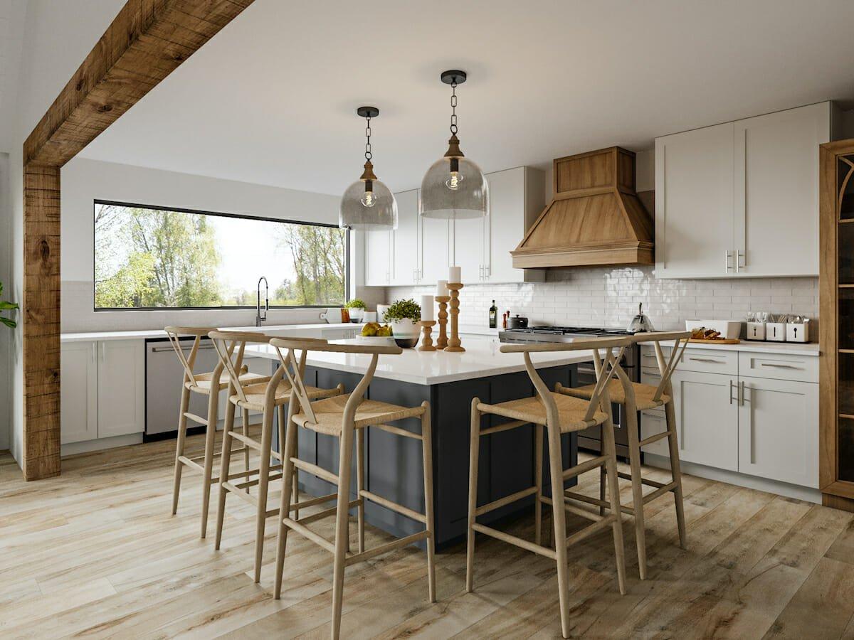 Rustic interior design elements for a kitchen remodel