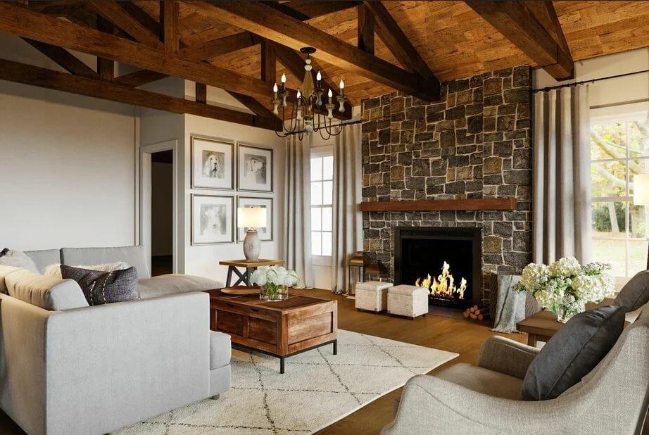 Simple rustic home interior