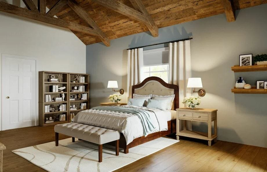 Stylish country style bedroom