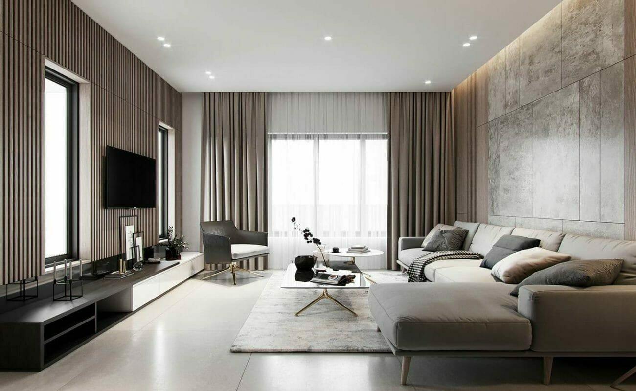 Subtle warm lights in lighting interior design