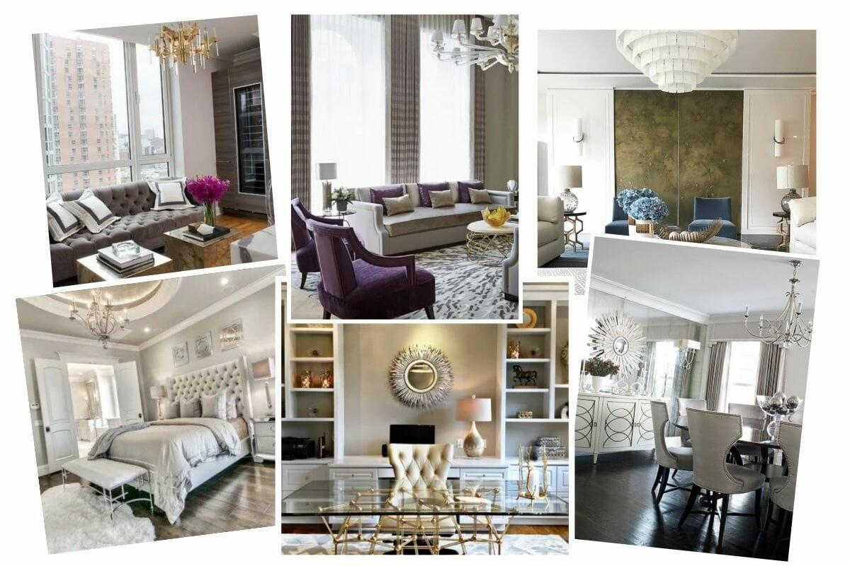 The Inspiration Moodboard for Glam Interior Design
