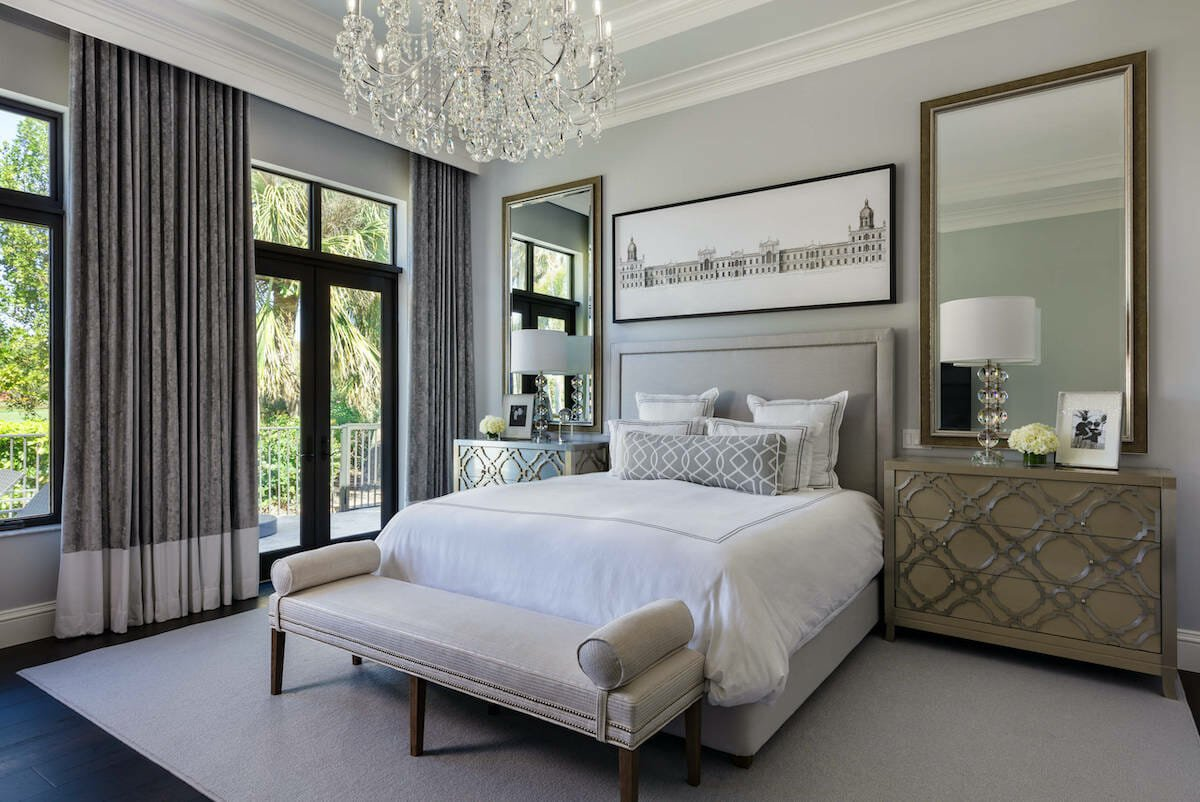 Transitional style home with touches of glam