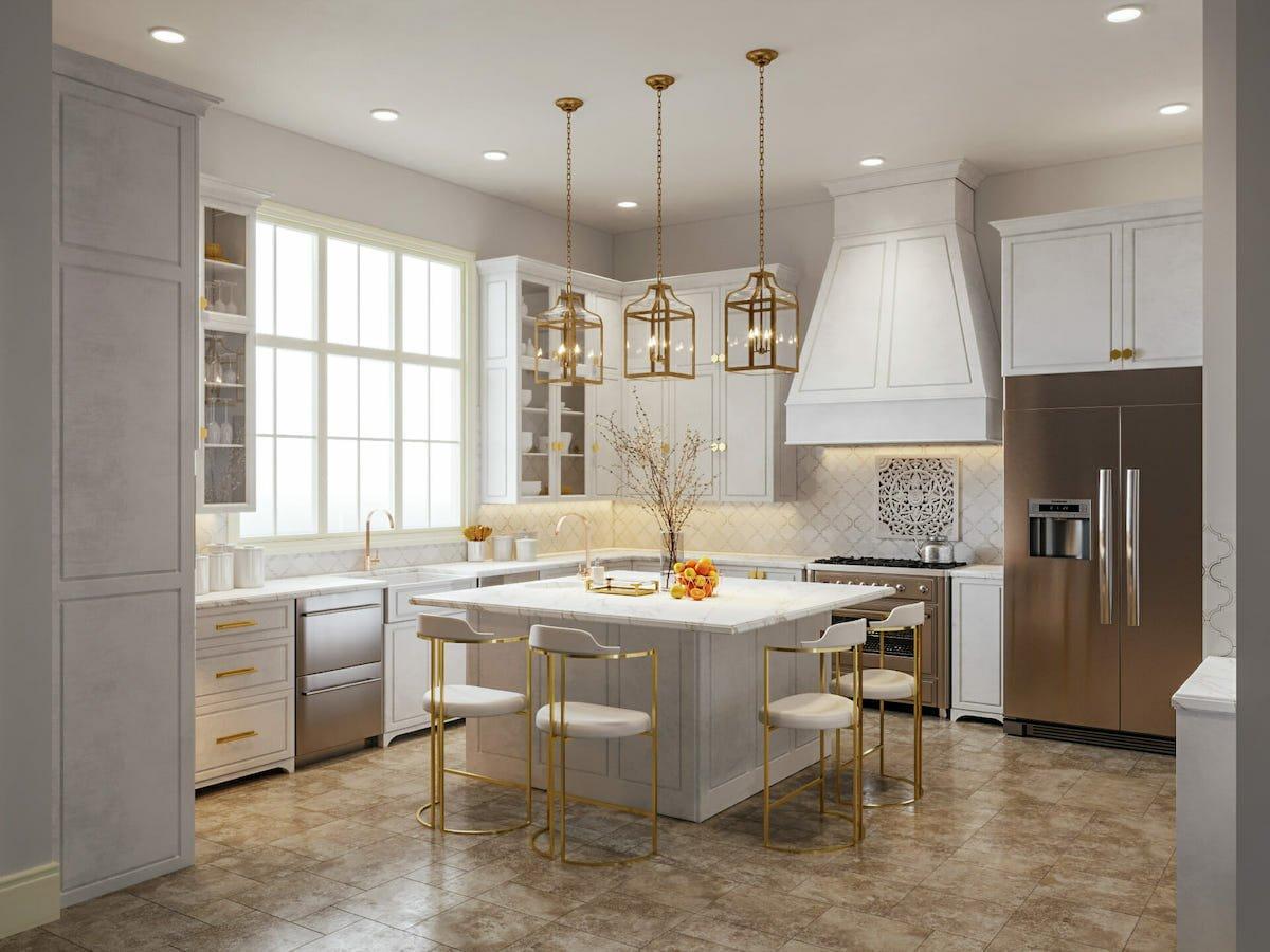 Under cabinet lighting design by Decorilla designer, Sarah M.