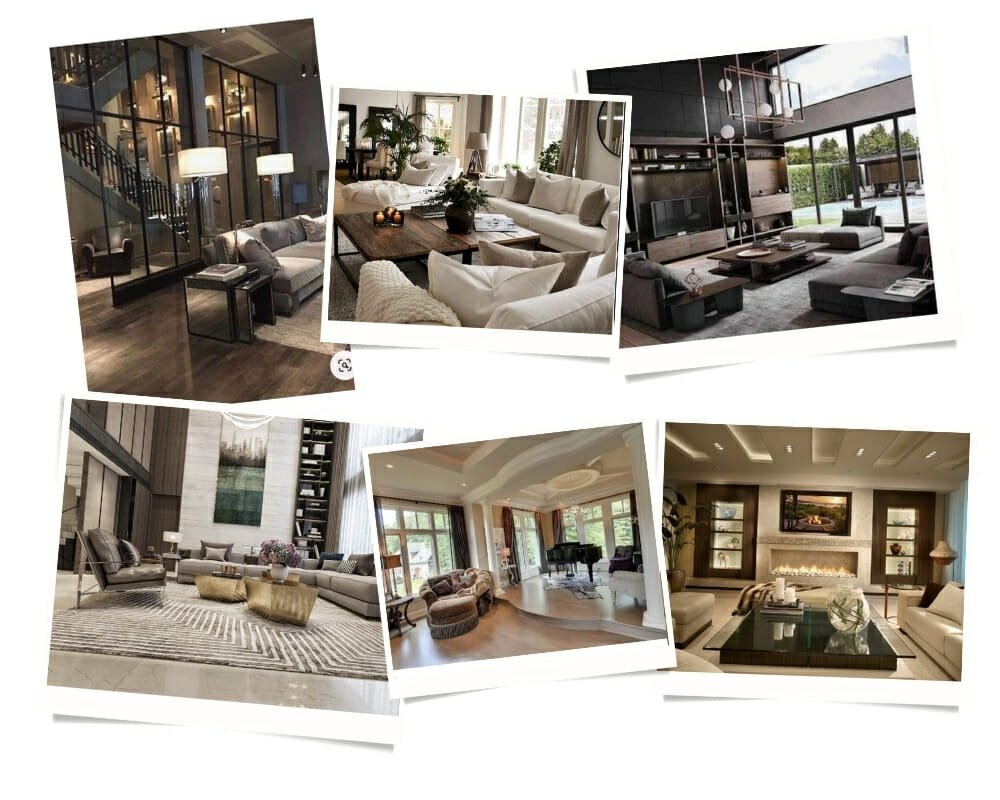 Vaulted ceiling Contemporary House Interior moodboard