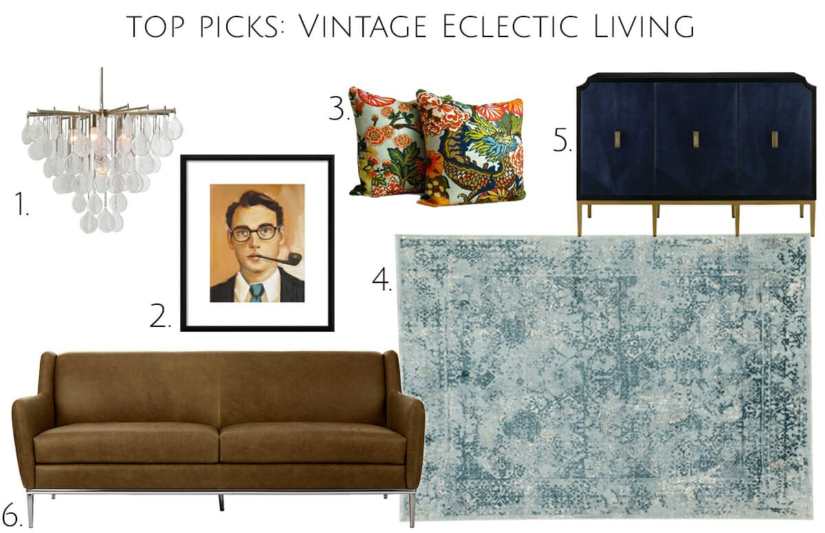 Vintage eclectic living room furniture and decor top picks