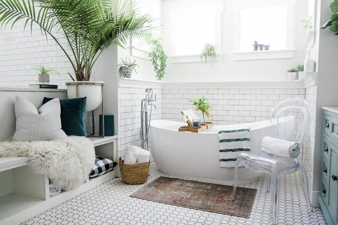 coastal bathroom by Casey online interior decorator