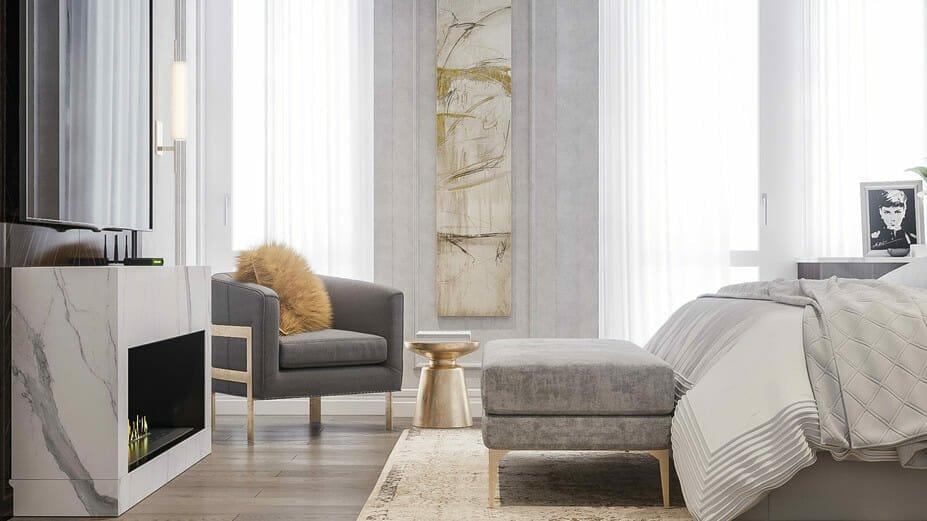 contemporary glam interior by a hotel decorator - Mladen