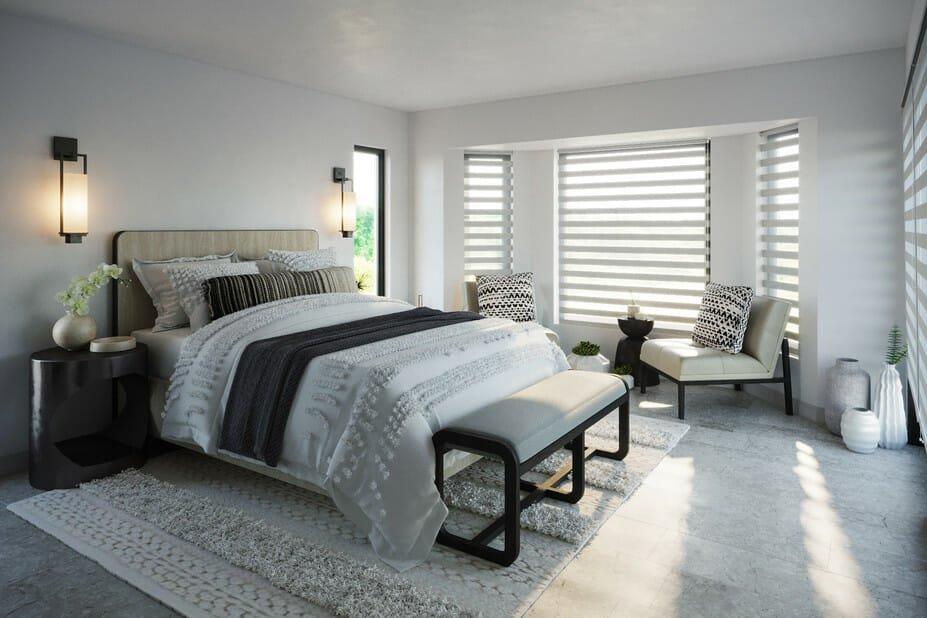 contemporary rustic decor for a bedroom