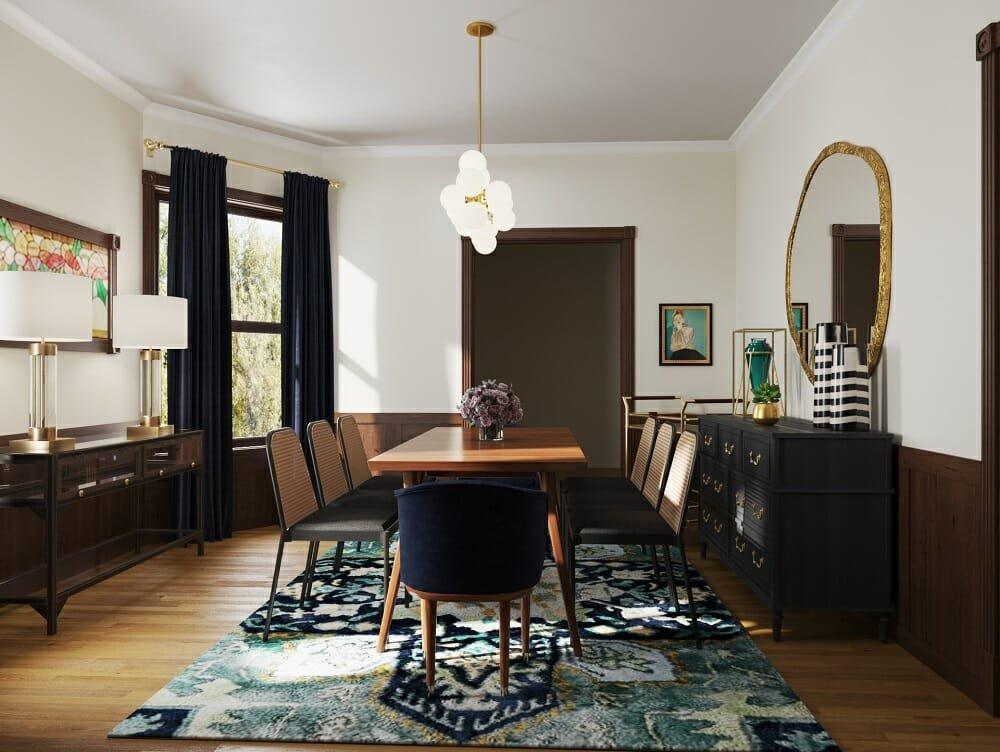 eclectic interior by Casey Hardin online interior designer