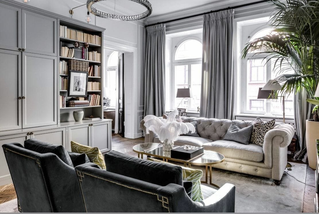 glam interior design living room