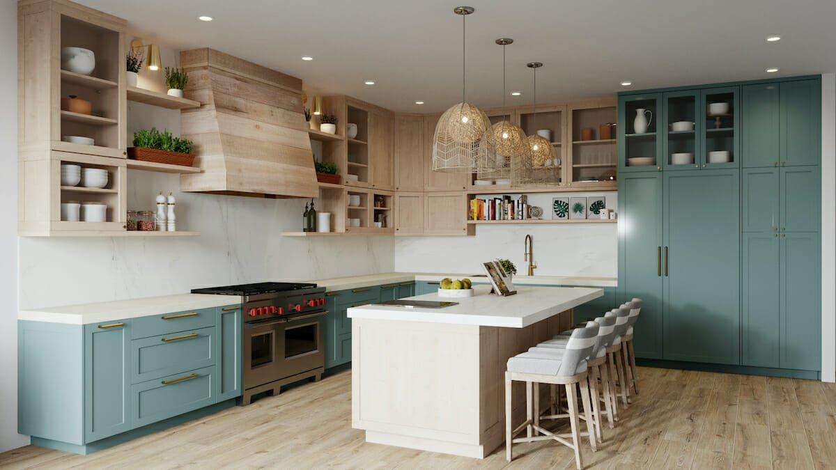 house interior lighting for a boho kitchen