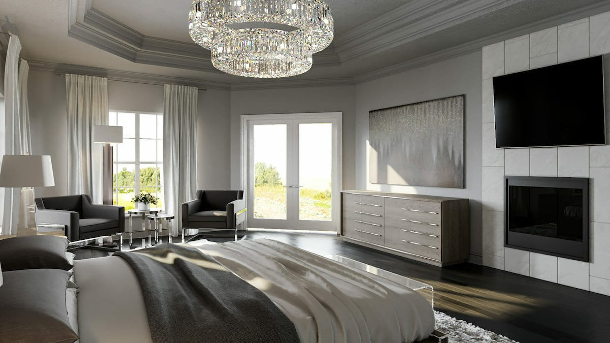 modern glam room decor for a master suite