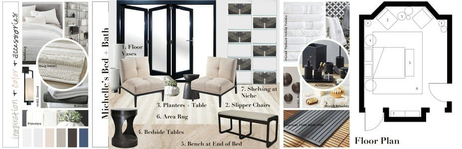 rustic contemporary house mood board with decor