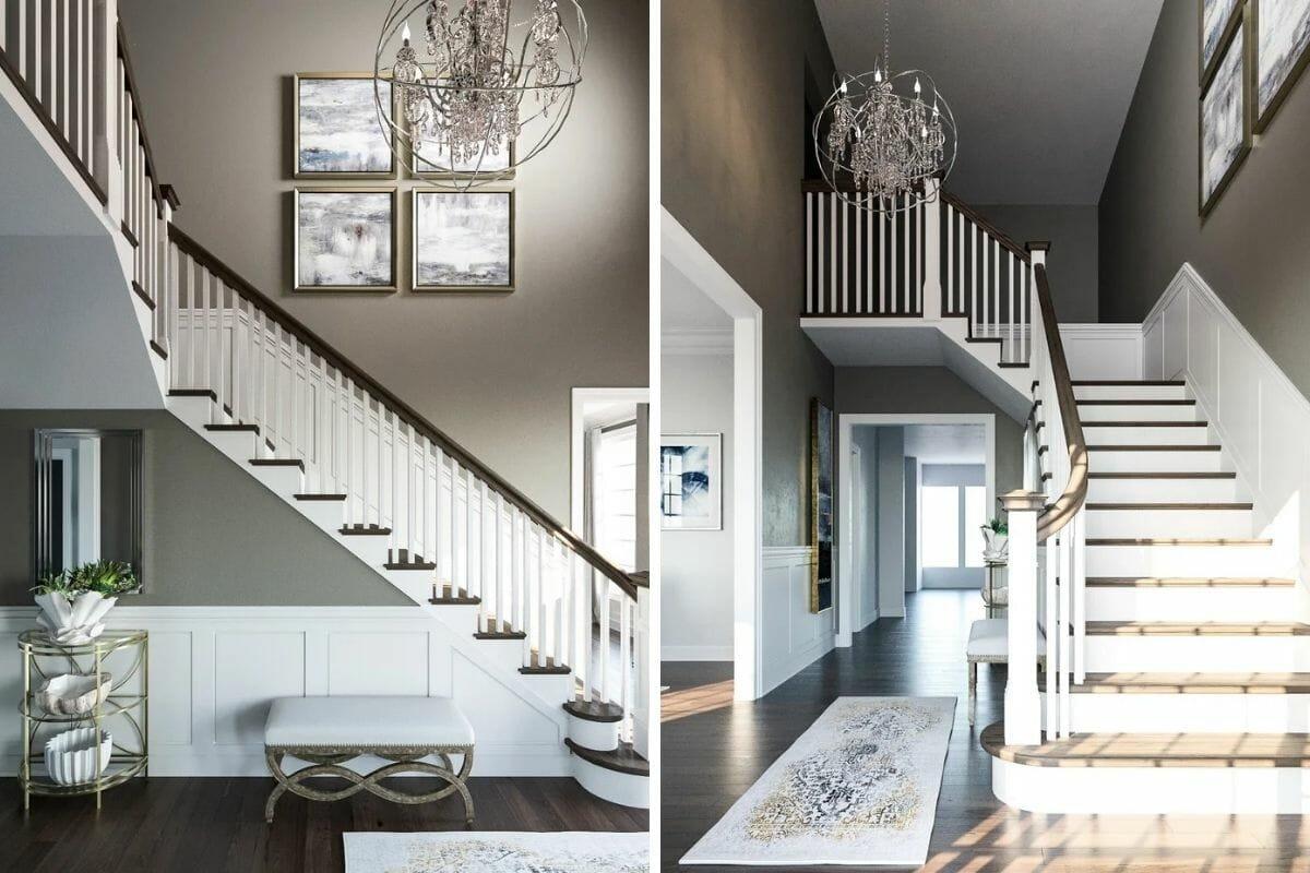 transitional interior design foyer